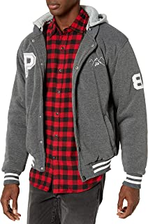 The Polar Club Mens` Fleece Varsity Baseball Jacket