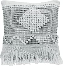 Bloomingville Square Textured Cotton Pillow, Ivory