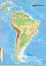 Carte Topographique Amerique Du Sud.Amazon Fr Carte Amerique Sud