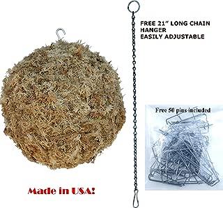Sphagnum Moss Kokedama Ball, Sphere, Living Wreath, Orb Organic Natural - 13