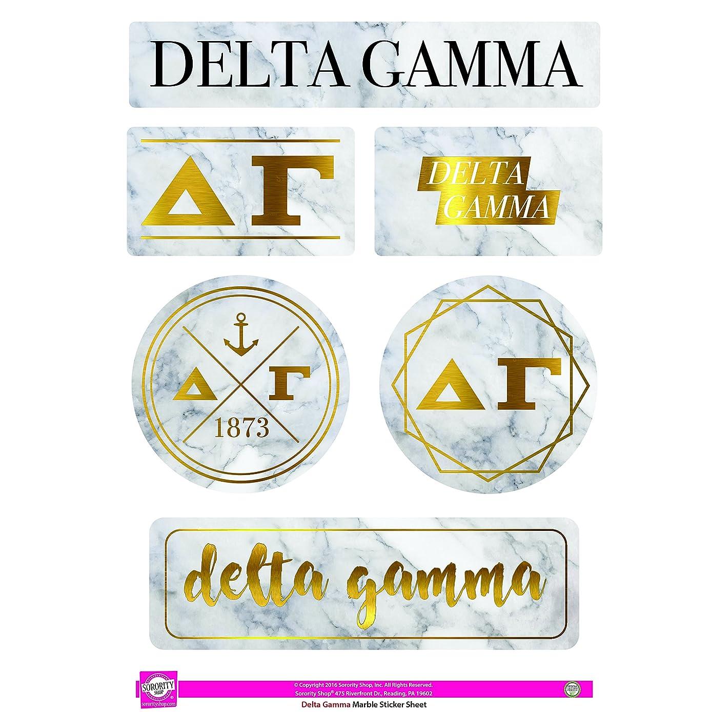 Delta Gamma - Sticker Sheet - Marble Theme