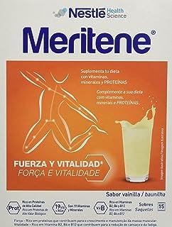 MERITENE de Nestlé Health Science - FUERZA Y VITALIDAD Batido Vainilla - Estuche (15x30g)