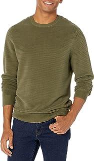 Men's Soft Cotton Ottoman Stitch Crewneck Sweater