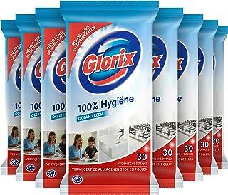 Glorix Schoonmaakdoekjes Ocean Fresh, 100% Hygiëne - 10 x 30 doekjes - Voordeelverpakking