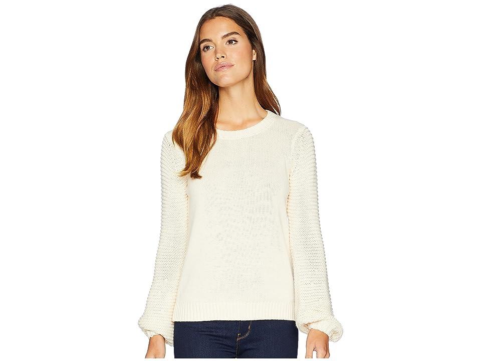 BB Dakota Fly Me To The Moon Balloon Sleeve Sweater (Cream) Women
