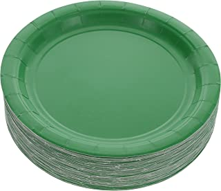 Amcrate Green Disposable Party Paper Dessert Plates 7