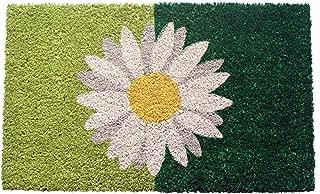 Entryways One Daisy on Green Non- Slip Coconut Fiber Doormat 17