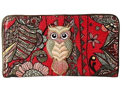 Sakroots Artist Circle Slim Wallet (Crimson Spirit Desert) Wallet Handbags