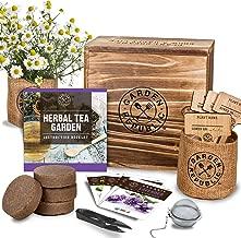 Indoor Herb Garden Seed Starter Kit – Organic Herbal Tea Growing Kits, Grow..