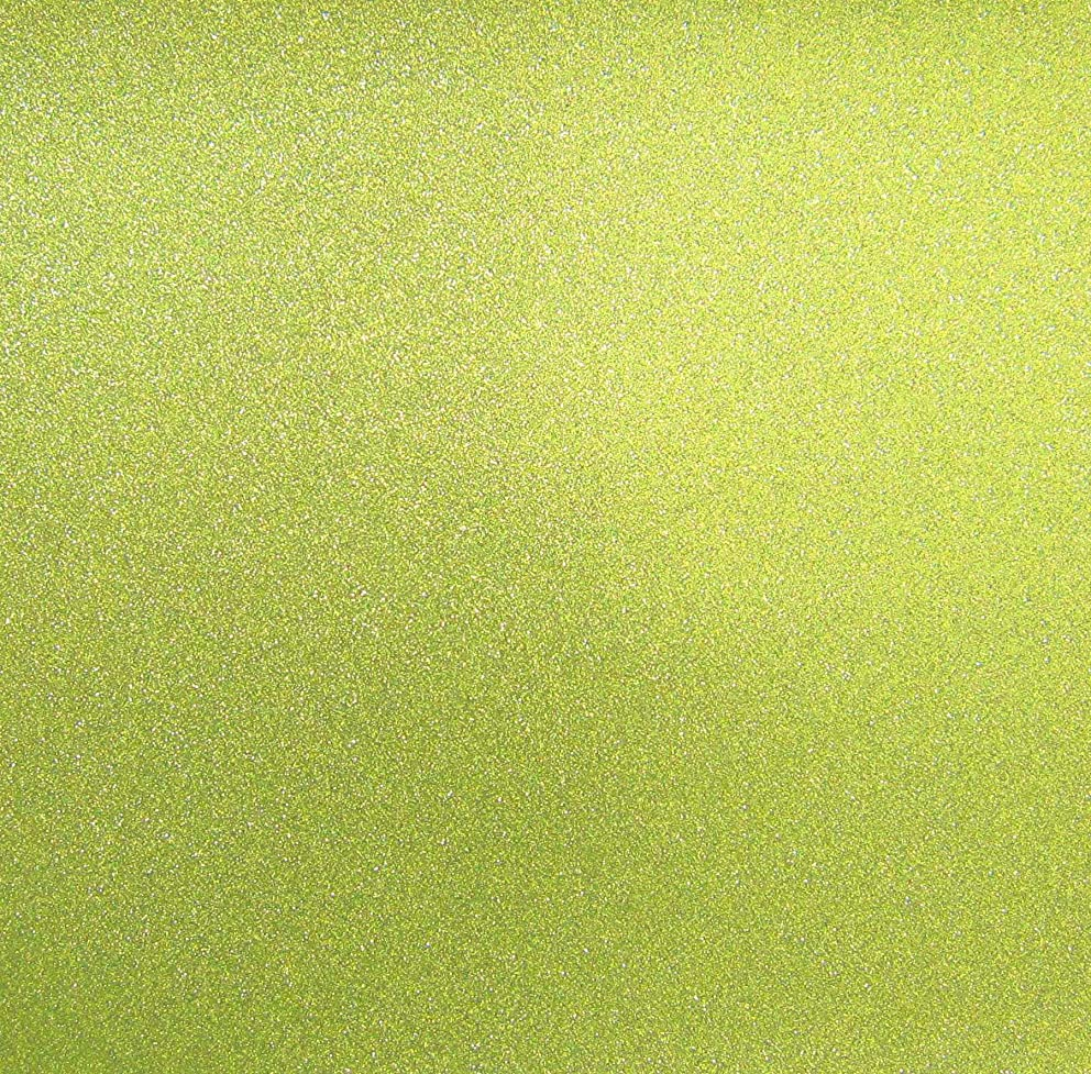 Best Creation 12-Inch by 12-Inch Glitter Cardstock, Lime