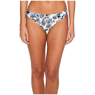 Ella Moss Folktale Floral Shirred Side Retro Bikini Bottom (Blue) Women