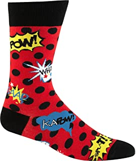 Cartoon Blamo! Mens Socks, Red and Black