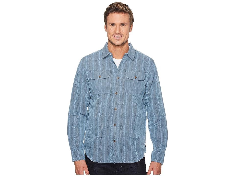 Prana Rennin Long Sleeve Shirt (Aspen Blue) Men