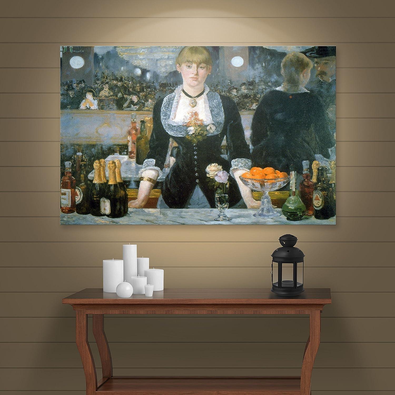Bilderdepot24 Art Print Tableau Toile Photo sur Toile /Édouard Manet Toile d/éco imprim/ée Images sur Toile Bar dans Les Folies-Berg/ère 30x40 cm Vieux ma/îtres