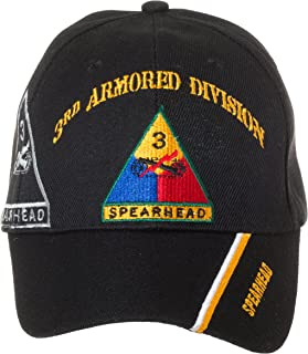 Artisan Owl Officially Licensed US Army Armored Division Black Embroidered Baseball Cap - Multiple Divisions Available! …