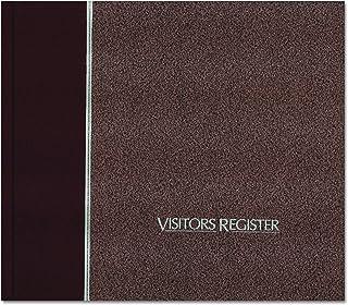 National 57803 Registre des visiteurs, couverture rigide, bordeaux, 128 pages, 8 1/2 x 9 7/8