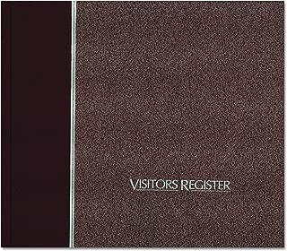 National 57803 Visitor Register Book, Burgundy Hardcover, 128 Pages, 8 1/2 x 9 7/8