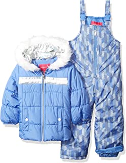 b8ed0303d FREE Shipping on eligible orders. London Fog Girls' Snowsuit with Snowbib  and Puffer Jacket