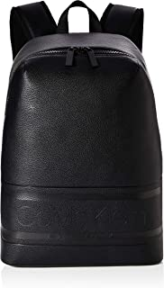 Calvin Klein Striped Logo Pu Round Backpack - Mochilas