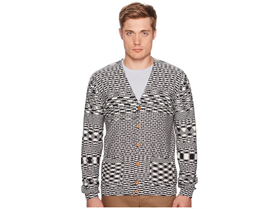 Missoni Check/Spacedye Cardigan (Navy/White) Men
