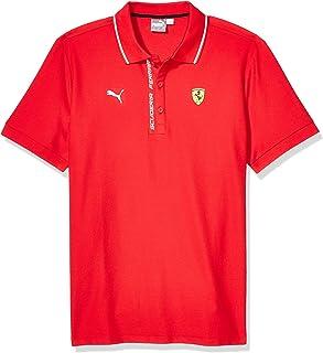 PUMA Mens Formula 1 Scuderia Ferrari Authentic Logo Polo, Rosso Corsa, XXL