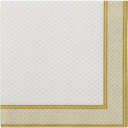 Belle blanc rouge baies noël papier 33cm square déjeuner serviettes 20 en pack