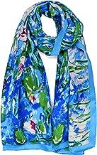 Luxurious 100% Charmeuse Silk Art Collection Long Scarf Claude Monet's