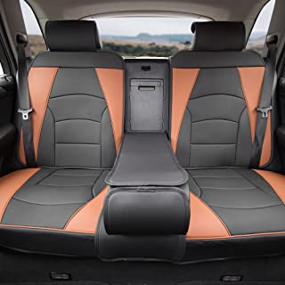 FH Group PU205013BROWNBLACK Brown/Black-Bench PU205BROWNBLACK013 Ultra Comfort Leatherette Rear Seat Cushions