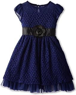 Puff Sleeve Daisy Lace Dress (Toddler/Little Kids)