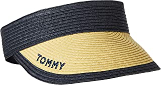 قبعة شاطئ واقية للشمس للنساء من تومي هيلفيجر، بلون أزرق، قياس واحد