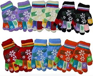 OPT Brand. 12 Pairs Kids Magic Grabber Gloves Children Knit Multi Colors Snowflake Christmas Gloves Wholesale.