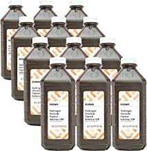 Amazon Brand - Solimo Hydrogen Peroxide Topical Solution USP, 16 fl oz (Pack of 12)