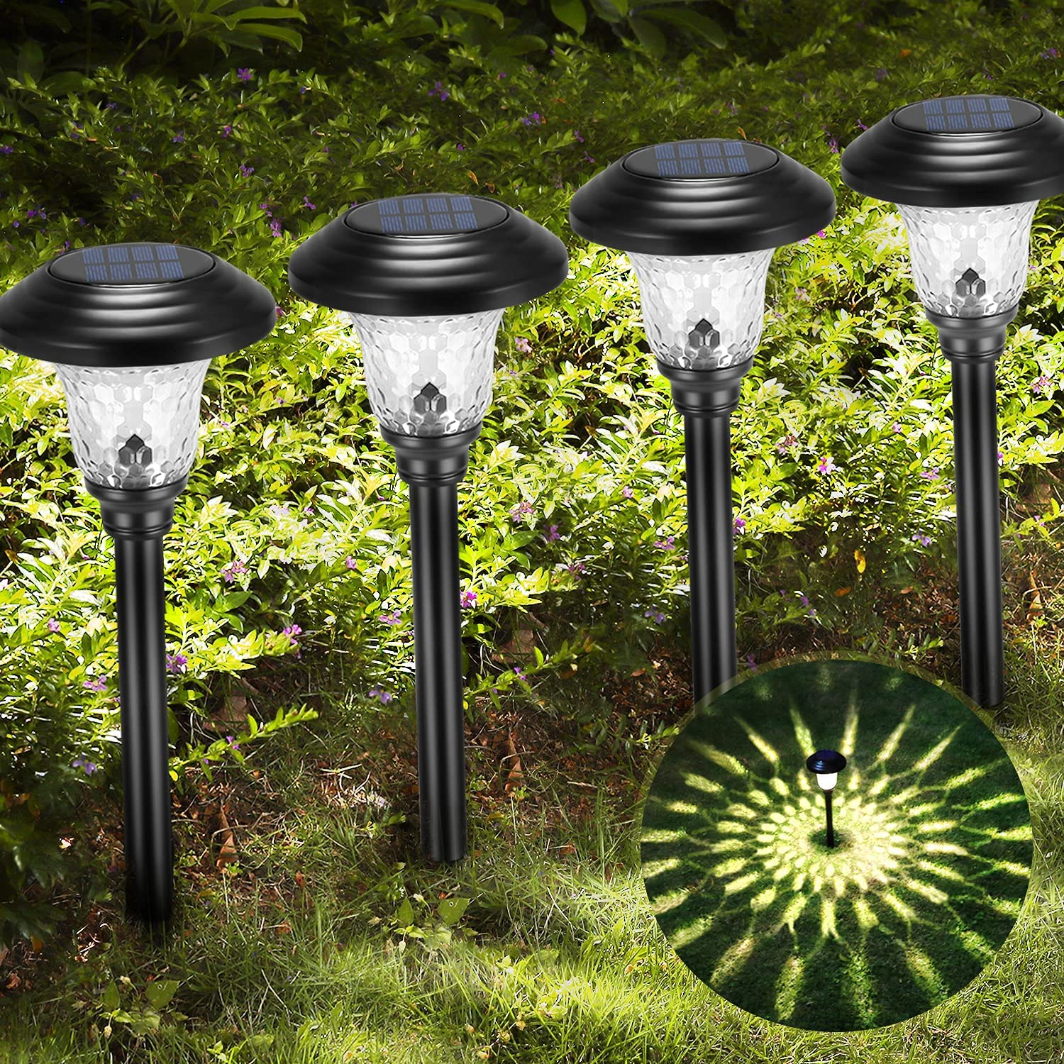 Solar Pathway Lights Garden Powered Outdoor W Decor All stores are Free shipping sold