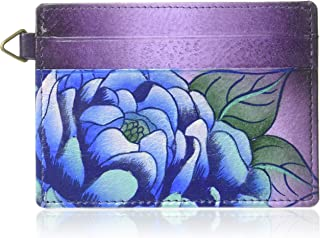 Hand Painted Leather Women's Credit Card CASE