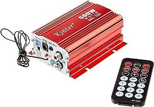 Kinter MA-700 - Amplificador híbrido (500 W, Doble Canal, USB), Color Rojo