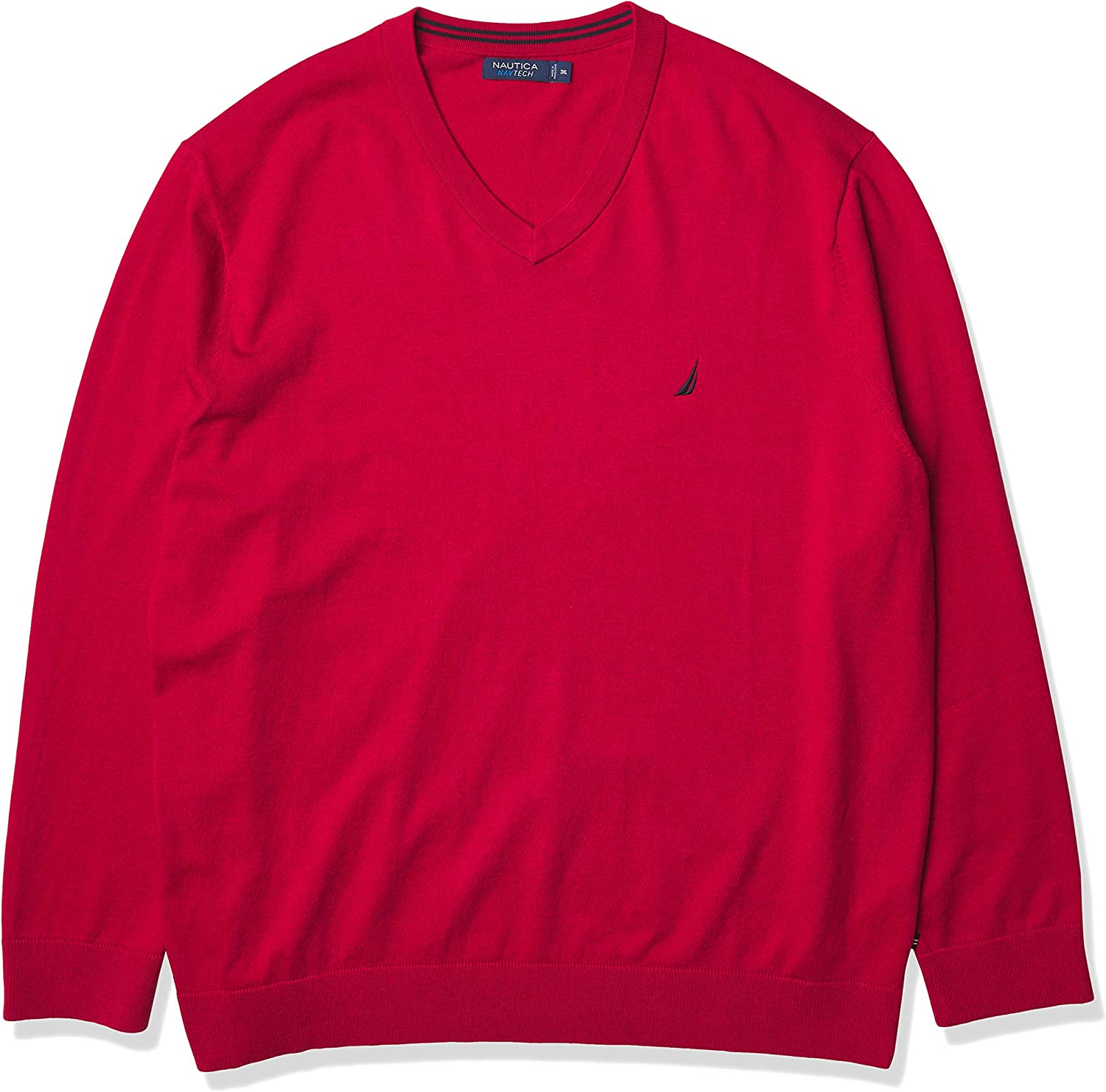 Nautica Men's Big and Tall Navtech V-Neck Sweater