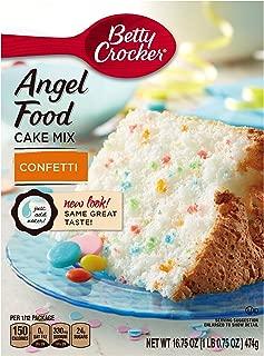 Betty Crocker Baking Mix, Fat Free Angel Food Cake Mix, Confetti, 16.75 Oz Box (Pack of 12)