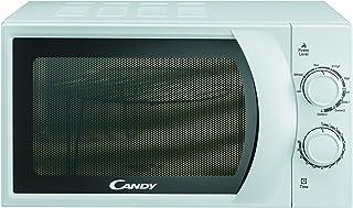 Candy CMG 2071 M Microondas con Grill, 6 Niveles, 2 mandos mecánicos, Plato Giratorio 24,5 cm, Potencia 700 W-900 W, 20 litros, blanco
