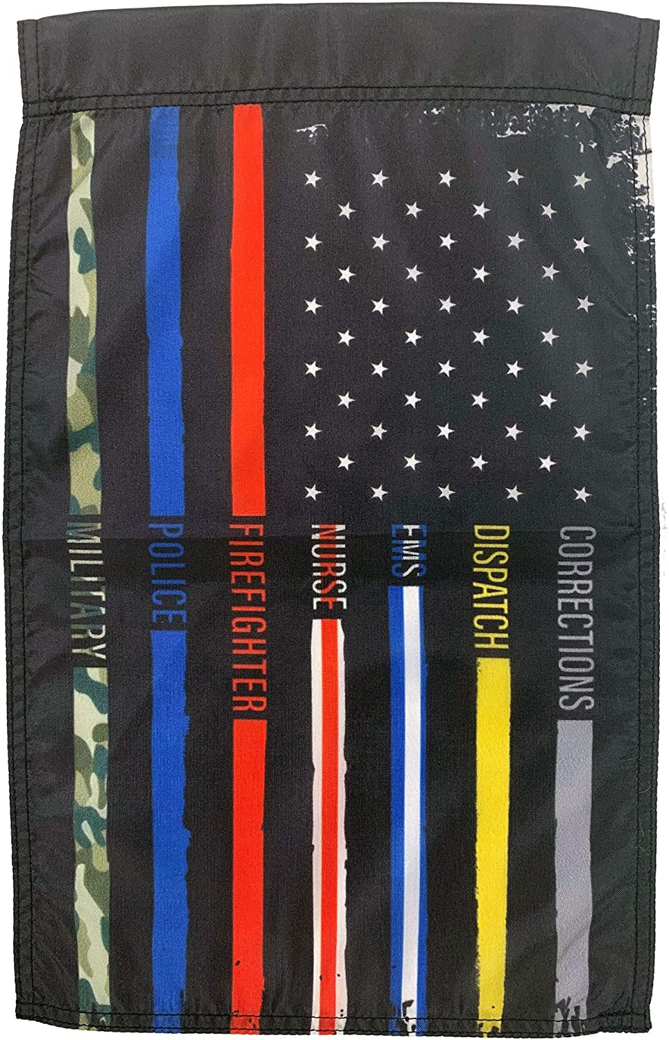 FlagSource First Responder Low price Nylon Patriotic in Made Garden Flag Tampa Mall