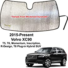 Custom Windshield Sun Shade 2013-2015 Volvo XC90 suv Best Fitting Shade VO-32