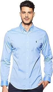 Ralph Lauren Men's Stretch Poplin Sport Shirt Hooded