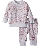 Stella McCartney Kids - Betty + Tootie All Over Hearts Fleece Set (Infant)