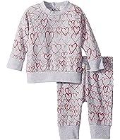 Stella McCartney Kids - Betty + Tootie All Over Hearts Fleece Set (Infant)