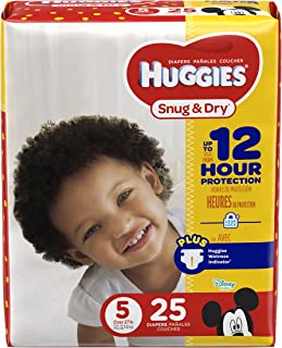 HUGGIES Snug & Dry Diapers,  Size 5,  25 Count,  JUMBO PACK (Packaging May Vary)