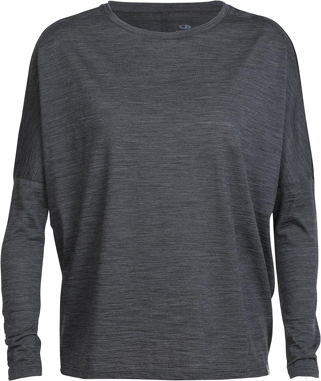 Icebreaker Merino Aria Long Sleeve Scoop Neck Shirt, Zealand Merino Wool