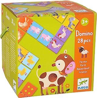 DJECO - Domino Farm Educational Game for Kids