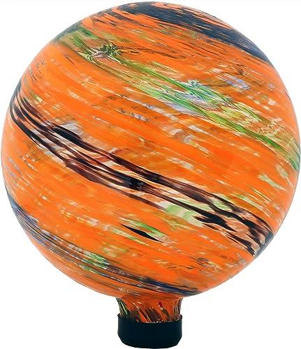 2021 Sunnydaze online Sunset Sky Gazing Globe wholesale Glass Garden Ball, Outdoor Lawn and Yard Ornament, 10-Inch online