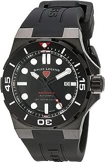 Men's 10062A-BB-01-BLK-SM-RDB Abyssos Analog Display Swiss Automatic Black Watch