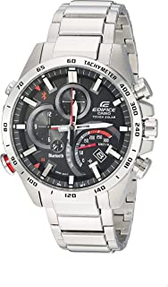 Casio Men's Edifice Connected Quartz Watch with Stainless-Steel Strap, Silver, 14 (Model: EQB-501XD-1ACF)
