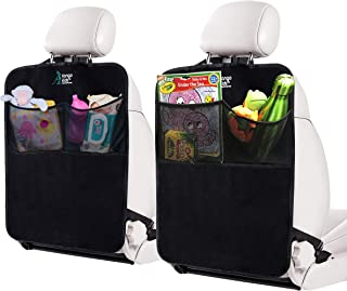 Sponsored Ad - KangoKids Kick Mats – 2 Pack - Keep Your Upholstery Clean - Waterproof and Stain Resistant Back Seat Protec...
